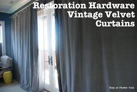 stay at home ista hanging restoration hardware vintage velvet