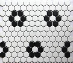 Mosaic Bathroom Floor Tile by Black And White Mosaic Bathroom Floor Tiles Design Ideas