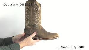 double h 12 inch mens gel ice work western boot style dh1552 youtube