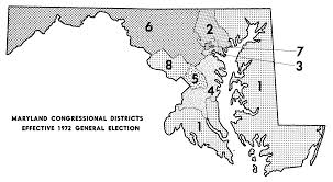 State Of Maryland Map by Redistricting Historical Districts