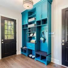 navy mudroom cabinets design ideas