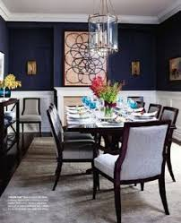 What A Luxurious Dining Room Design Love The Wall Color The - Navy and white dining room