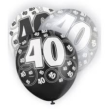 40th birthday balloons delivered 40th birthday balloons helium balloons