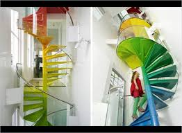 wonderful spiral staircase with slide for contemporary building