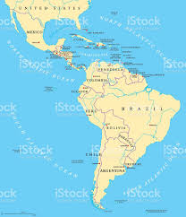South America Map Countries Latin America Political Map Stock Vector Art 609832166 Istock