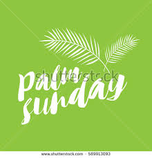 palm sunday palms for sale palm sunday title palms stock vector 589913123