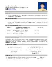 Sample Resume Undergraduate by Resume Sample
