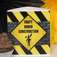 Construction Party Centerpieces by Construction Zone Party Supplies