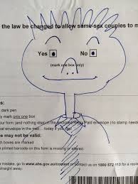 what to do with your australian marriage law postal survey form a