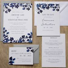 cheap wedding invitations packs indigo watercolour wedding invitation suite invitation suite