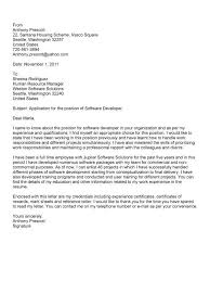 software development project manager cover letter best technical