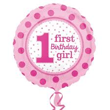 1st birthday girl birthday balloon polka dot girl