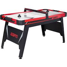 air powered hockey table espn 60 inch air powered hockey table with overhead electronic