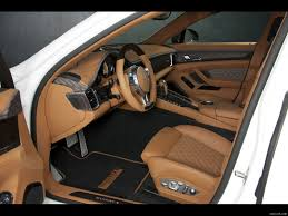 Porsche Panamera Brown - mansory porsche panamera turbo 2011 interior wallpaper 6
