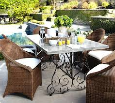 pottery barn concrete table pottery barn patio furniture concrete top rectangular dining table