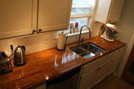 decoration ideas exquisite dark oak counter top and white wooden