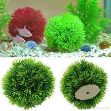 Home Decor Artificial Plants 2017 Red Green Yellow 13cm Fish Tank Grass Ball Home Decoration