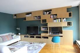 bureau bibliothèque intégré bibliothèque avec bureau intégré