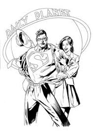 lois lane interviews superman coloring superman