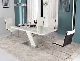 white modern dining table set modern white lacquer dining table modern dining