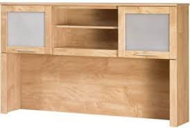 Desks With Hutches Storage Bush Wc81431 03 Somerset Hutch For 60 Inch L Shaped Desk Open
