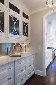 Kitchen With Stainless Steel Backsplash Stainless Steel Butler Pantry Backsplash With Corbels