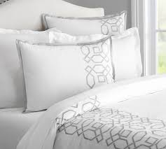 Catherine Lansfield Duvet Covers Hollis Embroidered Duvet Cover U0026 Sham Pottery Barn