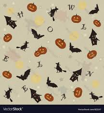 halloween background vector cute halloween background royalty free vector image