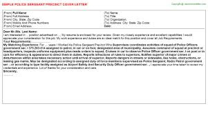 police sergeant cover letter police officer cover letter example