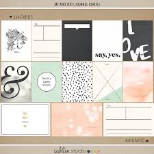 Project Life Wedding Album Me And You Journal Cards Sahlin Studio Digital Scrapbooking