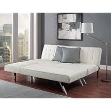 amazon com modern sofa bed sleeper faux leather convertible sofa