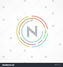 letter n logo design template business colorful creative sign