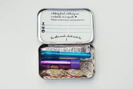 2012 Ornament Exchange Inkablinka - a visiting teachee emergency kit inkablinka