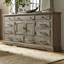 furniture bedroom dressers progressive furniture meadow rustic pine door dresser with 6