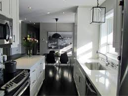 Corridor Kitchen Designs Galley Kitchen With Island Floor Plans How To Open Up A Galley