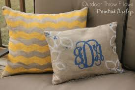 diy painted burlap outdoor throw pillows arts u0026 crackers