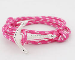 black bracelet pink images Introducing the pink caravan anchor bracelets watchbandit jpg