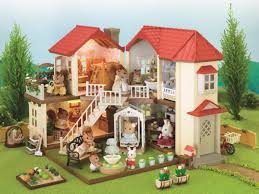 sylvanian families city house with lights walnut squirrel