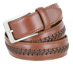 men u0027s woven laced braided genuine leather casual dress belt 1