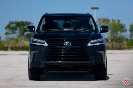 lexus lx 570 truck lexus lx 570 gets murdered out look and vossen wheels autoevolution