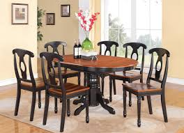 Kitchen Dining Sets  Pc Sania Collection Style Natural Tone - Black kitchen table