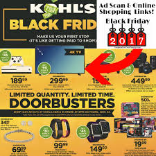 kohls black friday ad 2017 released ad shopping