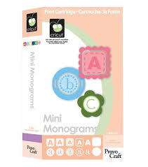 amazon com cricut cartridge mini monograms