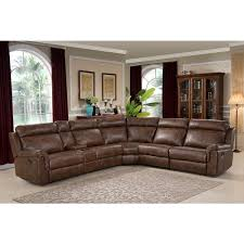sectional sofas with recliners and cup holders nicole brown large 6 piece family sectional with 3 recliners cup