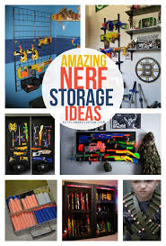 nerf bedroom nerf storage ideas a girl and a glue gun