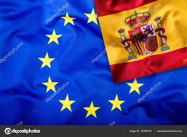 Picture Of Spain Flag Flags Of The Spain And The European Union Spain Flag And Eu Flag