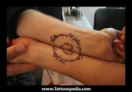 cute matching couple tattoo in 2017 real photo pictures images