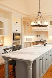 White Kitchen Island With Stools by White Kitchens With Granite Countertops Gray Metal Bar Stool White