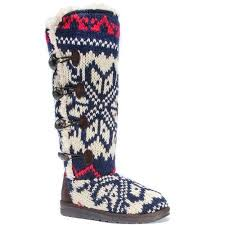 womens shearling boots size 11 muk luks s felicity boots size 11 blue products