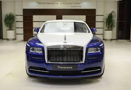 rolls royce white inside blue and white rolls royce wraith is bespoke to its core